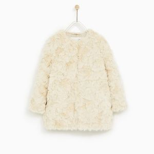 Zara Kids Faux Fur coat